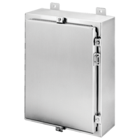Stainless Steel Wallmount, Hinged with NEMA Clamps, Type 4X
